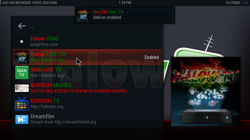 kodi halow tv 20
